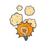 Retro cartoon light bulb symbol Stock Photo