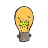 Retro cartoon light bulb symbol Stock Photos