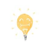 Retro cartoon light bulb symbol Royalty Free Stock Photography