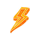 Retro cartoon lightning bolt symbol Stock Photo