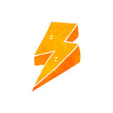 Retro cartoon lightning bolt symbol Stock Images