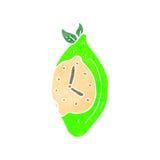 retro cartoon lime clock Stock Images