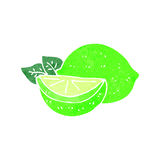 Retro cartoon limes Royalty Free Stock Photo