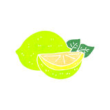 Retro cartoon limes Royalty Free Stock Photos