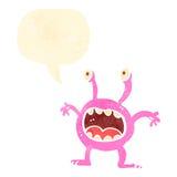 Retro cartoon little alien Royalty Free Stock Images