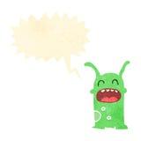 Retro cartoon little alien Stock Photos