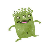 Retro cartoon little alien Stock Images