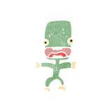 Retro cartoon little alien Royalty Free Stock Photo