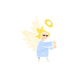 retro cartoon little angel Stock Photography