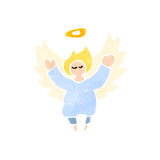 retro cartoon little angel Royalty Free Stock Photo