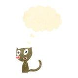 Retro cartoon little cat Stock Photo