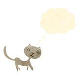 Retro cartoon little cat Stock Photography