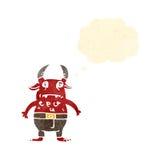 Retro cartoon little devil Stock Photo