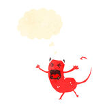 Retro cartoon little devil Royalty Free Stock Image