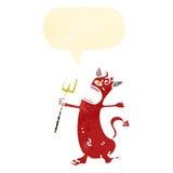 Retro cartoon little devil Stock Images