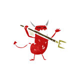 retro cartoon little devil Royalty Free Stock Photography