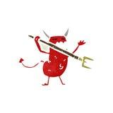 retro cartoon little devil Royalty Free Stock Photography