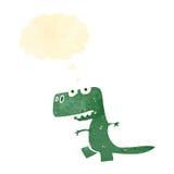 Retro cartoon little dinosaur Royalty Free Stock Image