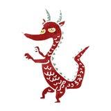 retro cartoon little dragon Royalty Free Stock Images