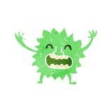 Retro cartoon little green monster Stock Photography