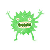 Retro cartoon little green monster Royalty Free Stock Photo
