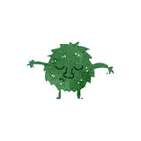 Retro cartoon little green monster Royalty Free Stock Photography