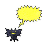 Retro cartoon little halloween bat Royalty Free Stock Photo