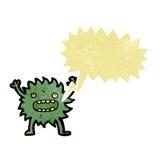 Retro cartoon little imp with speech bubble Royalty Free Stock Photo