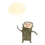 Retro cartoon little monkey Royalty Free Stock Image