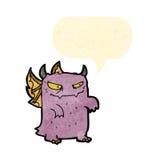 Retro cartoon little monster Stock Images