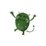 Retro cartoon little monster Stock Photos