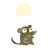 retro cartoon little mouse with thought bubble Royalty Free Stock Photography