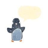retro cartoon little penguin Royalty Free Stock Image