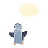 retro cartoon little penguin Royalty Free Stock Photo