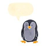 retro cartoon little penguin Stock Image