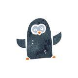 retro cartoon little penguin Stock Images