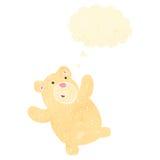 Retro cartoon little polar bear Stock Image