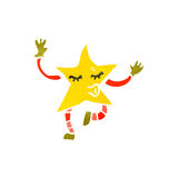 Retro cartoon little star creature Royalty Free Stock Photography