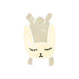 Retro cartoon little white rabbit Royalty Free Stock Image