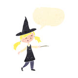 retro cartoon little witch Royalty Free Stock Photos