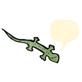 Retro cartoon lizard Royalty Free Stock Photos