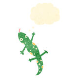Retro cartoon lizard Stock Photo