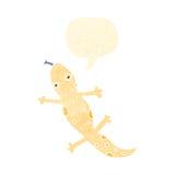 Retro cartoon lizard Royalty Free Stock Image