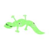 Retro cartoon lizard Royalty Free Stock Images