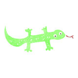 Retro cartoon lizard Stock Photography