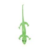 Retro cartoon lizard Stock Images