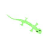 Retro cartoon lizard Royalty Free Stock Photo