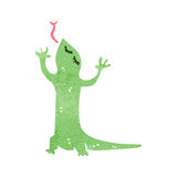 Retro cartoon lizard Stock Photos