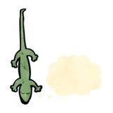 Retro cartoon lizard with thought bubble Stock Photos