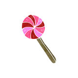 retro cartoon lolipop Stock Photo